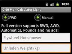0-60 Mph Calculator Light 1.07 Screenshot