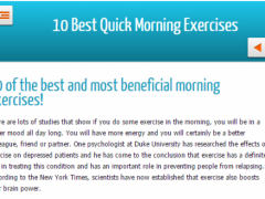 10 best morning exercises 1.0 Screenshot