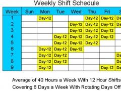 12 Hour Schedules for 6 Days a Week 2 Screenshot