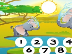 123 Animals Counting Game for Children: Learn to count the numbers 1-10 with safari life 1.0 Screenshot