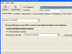 123 Sync Client for ACT and Outlook 13.8 Screenshot