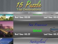 15 Puzzle - Top Destinations HD Free 1.0 Screenshot