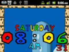 16 Bit Clock TRIAL Wallpaper 1.25 Screenshot