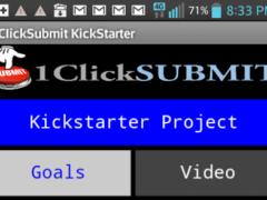 1ClickSubmit KickStarter APP 2.3 Screenshot