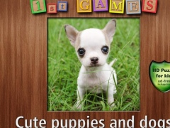 1st GAMES - Cute puppies and dogs HD puzzle for kids 1.0 Screenshot