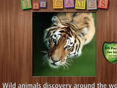1st GAMES - Wild animals discovery around the world HD puzzle for kids 1.0 Screenshot