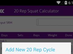 20 Rep Squats Routine 1.0 Screenshot