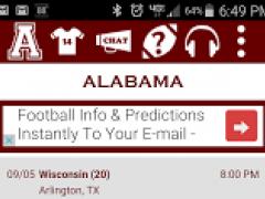 Alabama Football Schedule 3.015 Screenshot