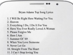 30 Bryan Adams Song Lyrics 2.0 Screenshot