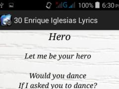30 Enrique Iglesias Lyrics 3 Screenshot