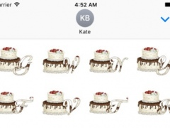 3D Cake Name Stickers Pack For iMessage 1.0 Screenshot