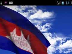3D Cambodia Flag LWP 3.1.4 Screenshot