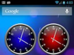 3d Glow Clock Widget Free 2.0.3 Screenshot