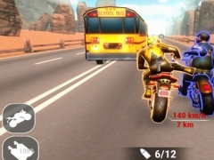 3D Madness Bike Racing: Highway free action with gun, kick, punch 1.1 Screenshot