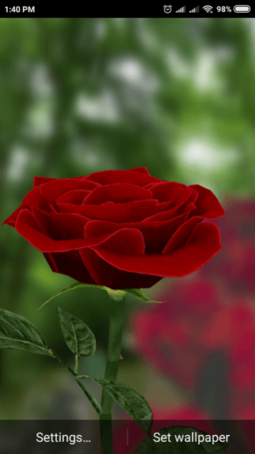 3d Rose Live Wallpaper Free 4 8 Free Download