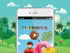 3D Shapes Flashcards: English Vocabulary Learning Free For Toddlers & Kids! 1.0 Screenshot