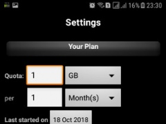 Review Screenshot - Monitor Your Data Usage Effectively with 3G Watchdog!
