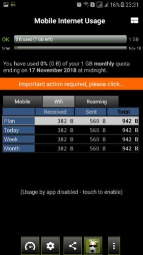 3G Watchdog – Data Usage