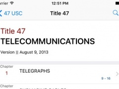 47 USC - Telecommunications (LawStack Series) 8.505.20160925 Screenshot
