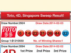 4D & Toto & SGP Sweep Free 2.80 Screenshot