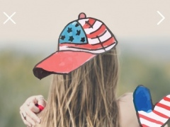 4th Of July Pro - Independence Day Everyday Watercolor Stickers Editor 1.0 Screenshot