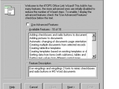 4TOPS Word Link for MS Access 97 4.1 Screenshot