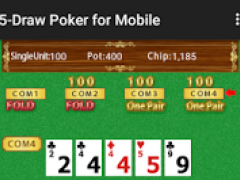 5 Card Draw Poker for Mobile 1.1.0 Screenshot