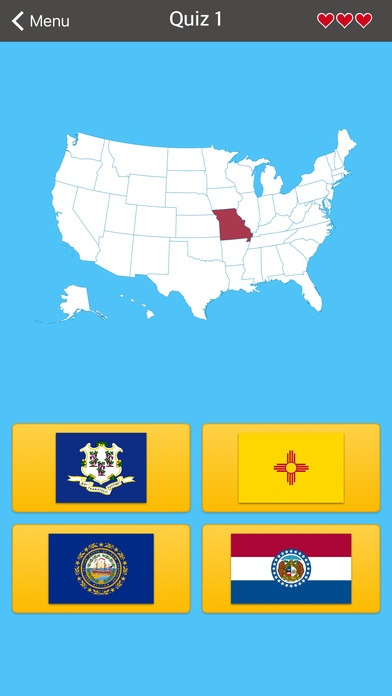 50 States • Flags, Capitals and US Map Free Download