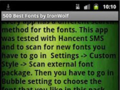 500 Best Fonts by IronWolf 1.3 Screenshot
