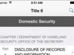 6 CFR - Homeland Security (LawStack's Title 6 Code of Federal Regulations) 8.313.20160617 Screenshot