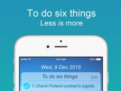 6 Things--To do six things everyday, improve your work efficiency! 1.1.1 Screenshot