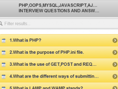 600+ Php Interview Questions 0.0.1 Screenshot