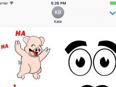 65 Funny Animated Stickers - Animals Jumbo Pack 1.1 Screenshot