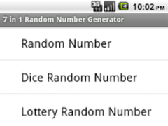 7 in 1 Random Number Generator 0.8 Screenshot