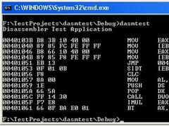 80x86 Win32 Disassembler DLL 1.2 Screenshot