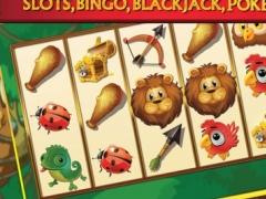 A A+ Jungle Book Wild Bingo Heat Casino – Tarzan of The Apes Slot Machine, Blackjack 21, Poker, Roulette & Top Card Slots Games Free 1.0 Screenshot