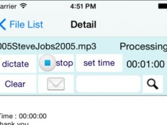 A Agile Dictation - audio file transcription by speech recognition in English 1.2 Screenshot