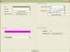 A Bitmap Font Creator  Screenshot