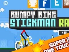 A Bumpy Bike Stick-man Racing Free Game 1.1 Screenshot