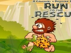A Caveman's Dinosaur Escape : Run to the Rescue 2.5 Screenshot