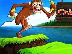 A Chimp Run Free - Top Monkey Jumping Adventure in the Jungle to gather Bananas 1.4 Screenshot