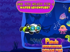 A Cute Panda Child Ocean Swimming Race : Free Girly animals vs fish games for girls and boys 1.0 Screenshot