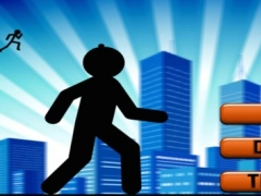 A Doodle Stickman Mission Rush - City Run and Jump Survival Game FREE 1.0 Screenshot