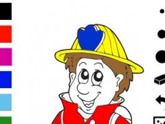 A Firefighter Coloring Book for Children: Learn to Color Firemen and Eqipment 1.0 Screenshot