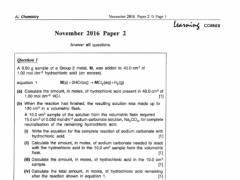 A LEVEL CHEMISTRY 9701 DWS TBT 1.0 Screenshot
