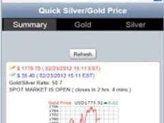 A+ Quick Silver Gold Prices 1.0.3 Screenshot