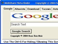 A WebShare Meta Finder 1.0 Screenshot