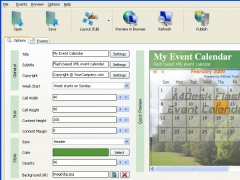 A4Desk Flash Event Calendar 3.00 Screenshot