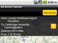 AA Route Planner 1.0 Screenshot