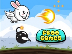 Aaah! It's Flappy the Crazy Rabbit Vs Angry Clumsy Bombs! Christmas HD Free Edition 1.0 Screenshot